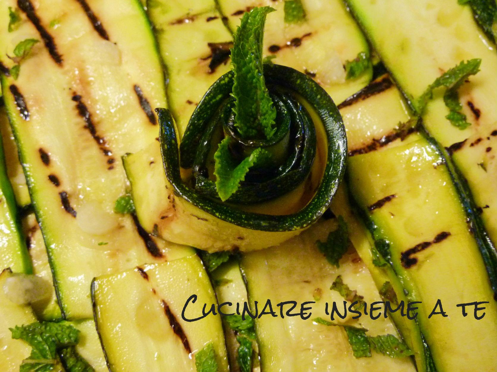 zucchine grigliate e marinate