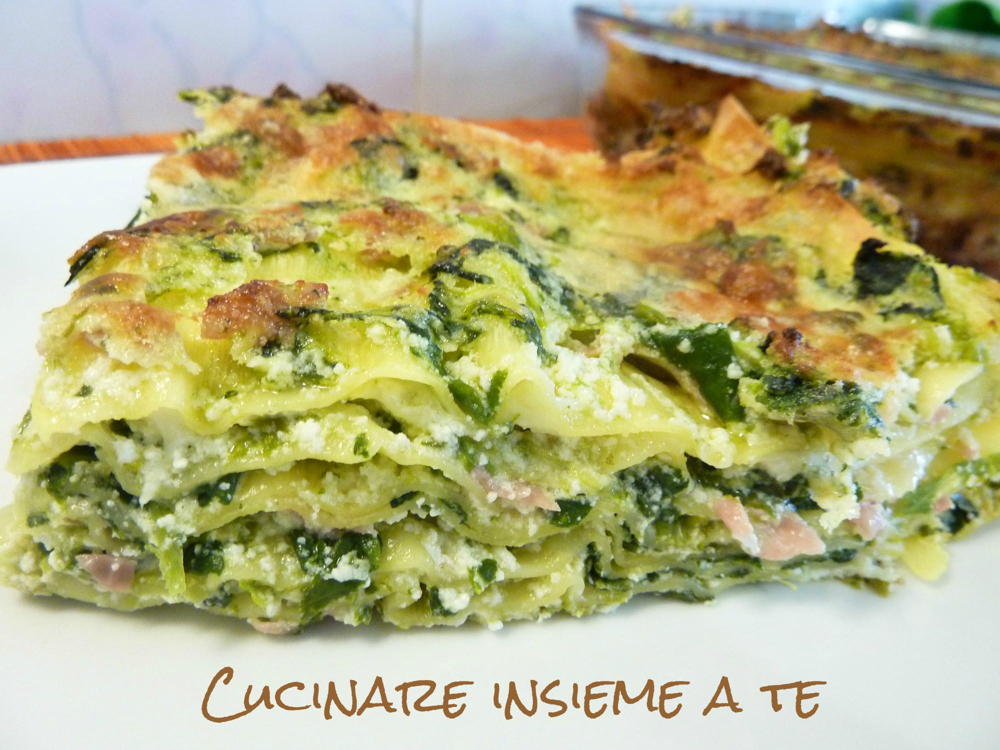 Ricetta Lasagne E Spinaci.Lasagna Ricotta E Spinaci Con Provolone E Mortadella