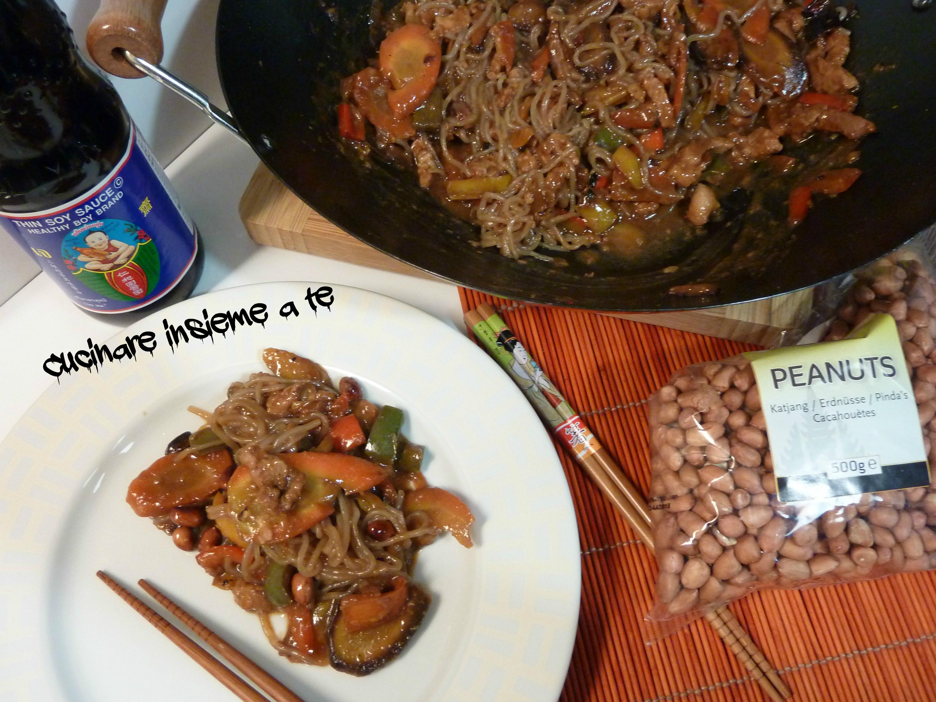 Shirataki di konjac con carne e verdure cucinare insieme for Cucinare konjac