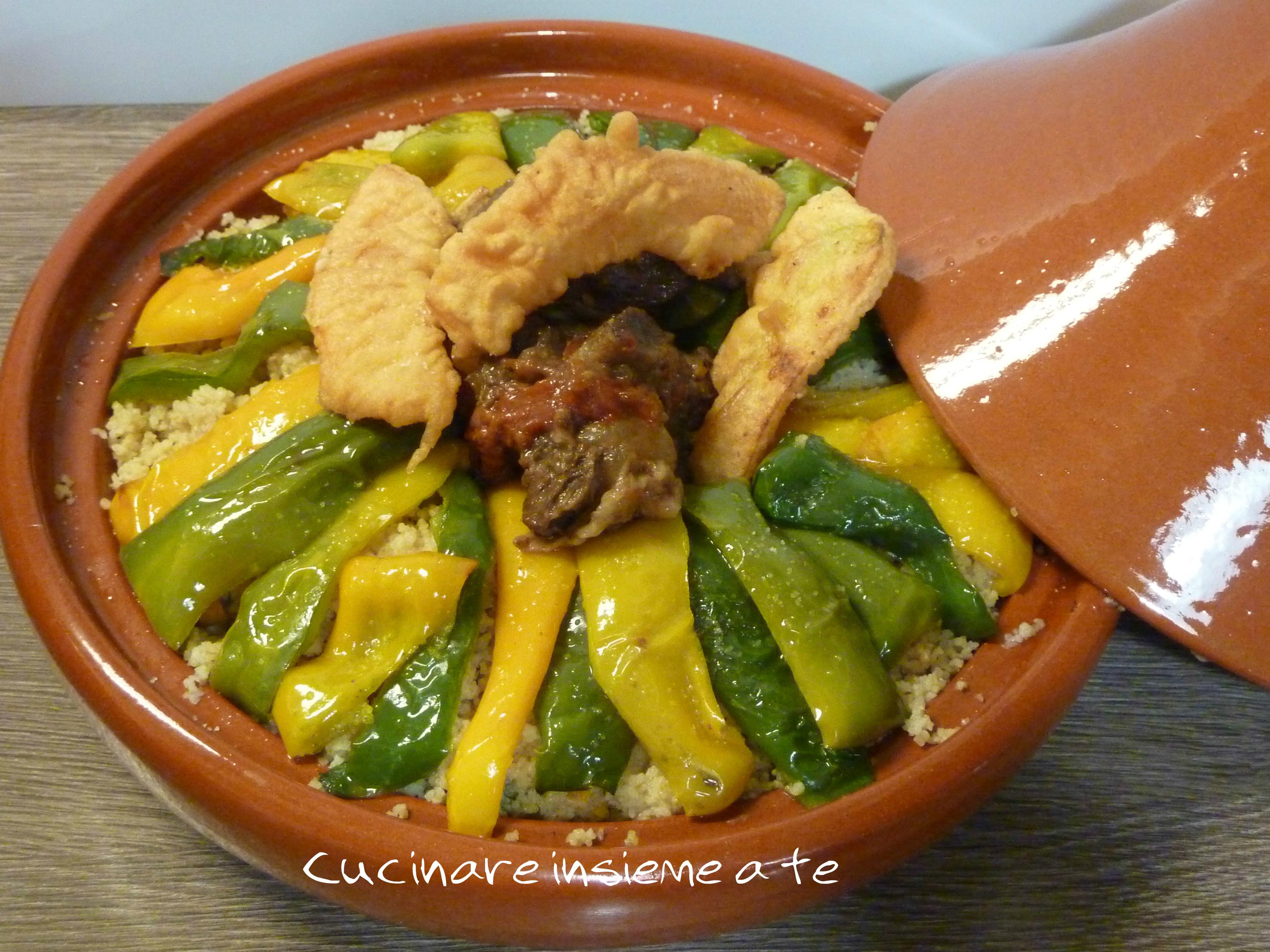 COUS-COUS CON CARNE E VERDURE, cottura tradizionale