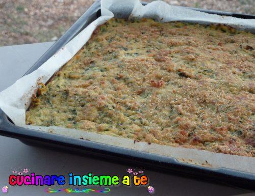 TORTA SALATA CON ZUCCHINE AL FORNO