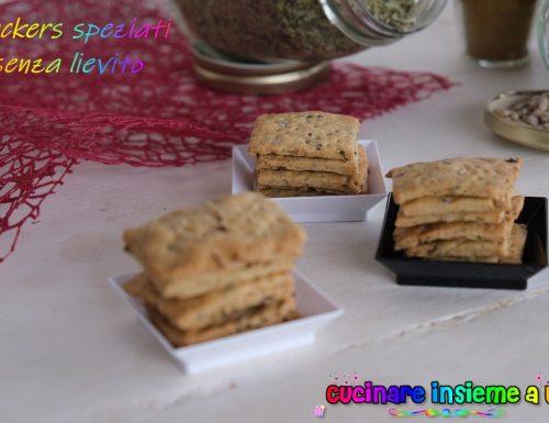 Crackers senza lievito speziati