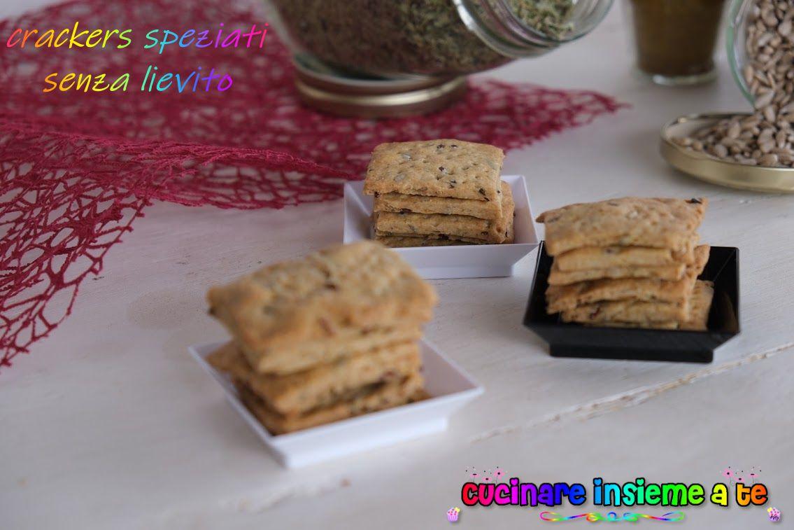 Crackers speziati senza lievito